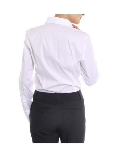 Cotton Bar Uzun Kollu Gömlek Beyaz